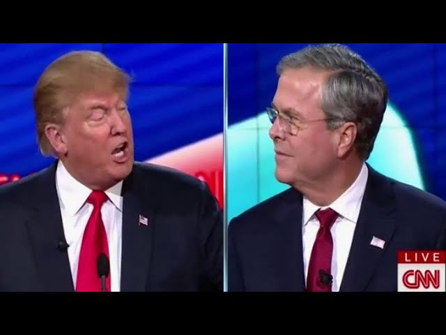 Donald Trump vs. Jeb Bush INTENSE Moments at Republican Debate (12-15-15)