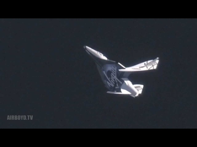 Virgin Galactics SpaceShipTwo First Feathered Flight