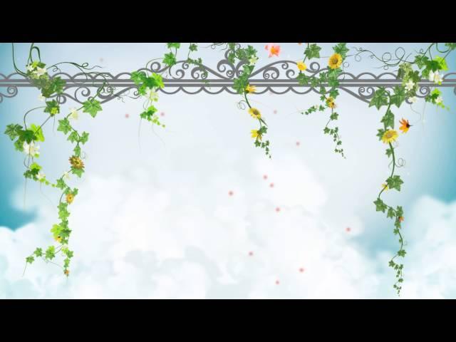 FONDO VIDEO BACKGROUND FULL HD - ENREDADERA, FLORES Y NUBES
