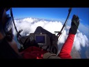 Paragliding flight on the wave