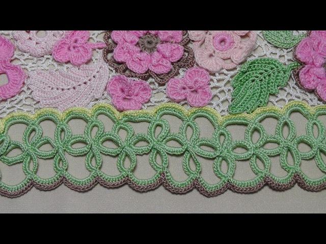 Ленточное кружево для подола платья Обвязка низа платья Crochet Lace