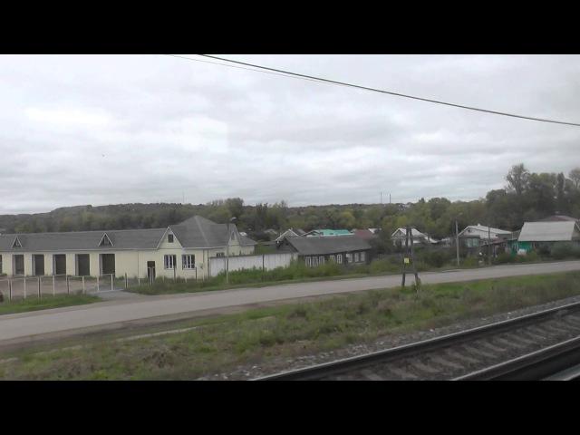 Отправление со станции Вятские Поляны и мост через Вятку