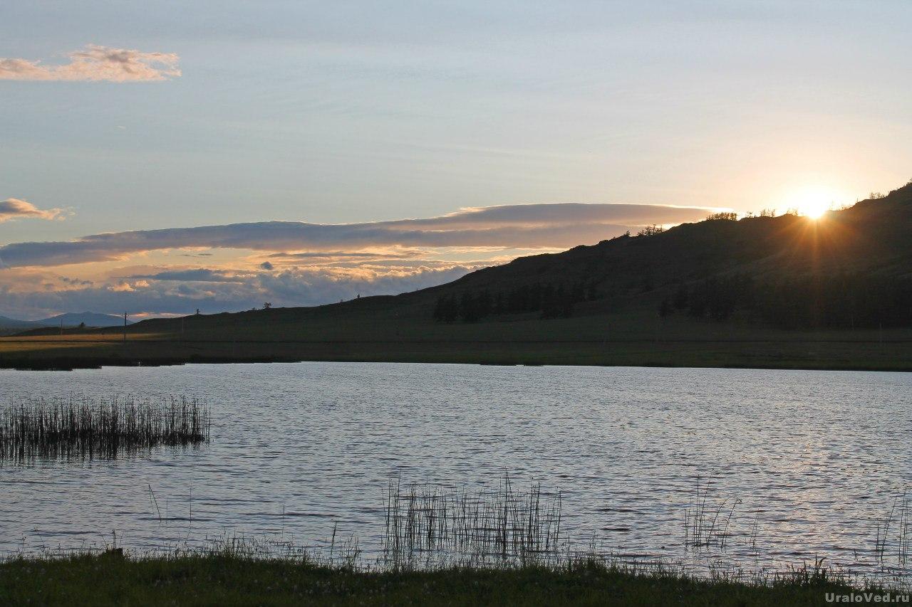 Закат на озере Калкан