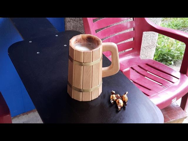 Деревянная кружка. Wooden mug