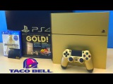 GOLD PS4 Limited Edition Bundle Unboxing! (Taco Bell WINNER!)
