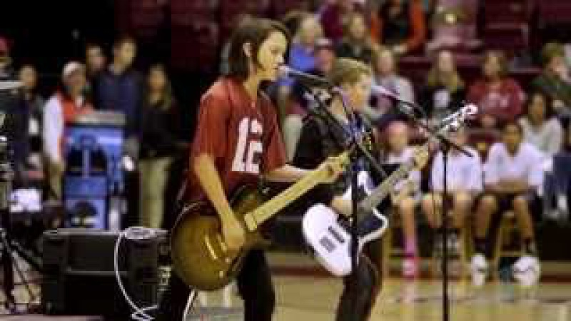 6th-grade band WJM performs at halftime of Stanford game (2014)