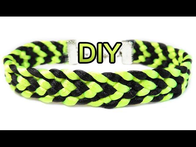 DIY: Kumihimo flat Arrows bracelet / Браслет Кумихимо плоский из 8 нитей (стрелочки)