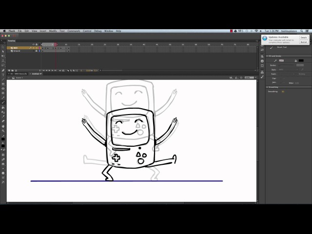 How to Animate BMO Dancing in Adobe Flash CC