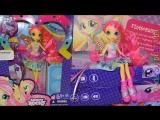Обзор на куклу Май Литл Пони Девушки Эквестрии Флатершай Ренбоу Рокс MLP Fluttershy Doll Review