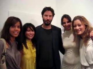 with Keanu Reeves in 2008