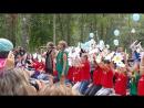 ДОЛ Полянка - 2015г. 3 смена Мир без войны Лиза Крылова и Вероника Кузнецова все дети лагеря