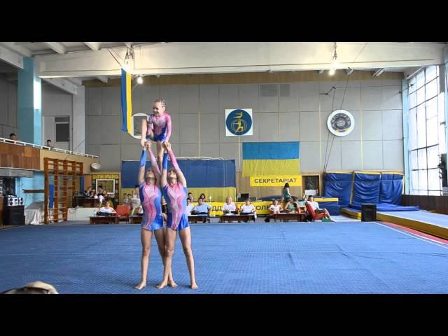 Спортивная акробатика Чемпионат Украины 2013 женская тройка