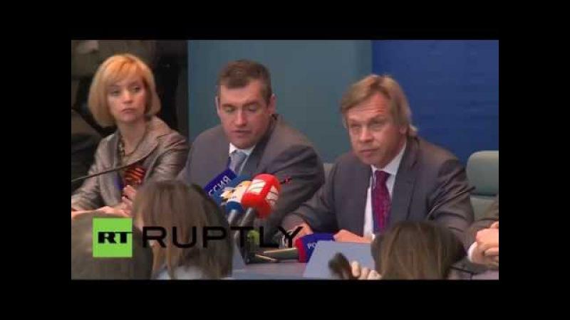 Заявление Алексея Пушкова на сессии ПАСЕ