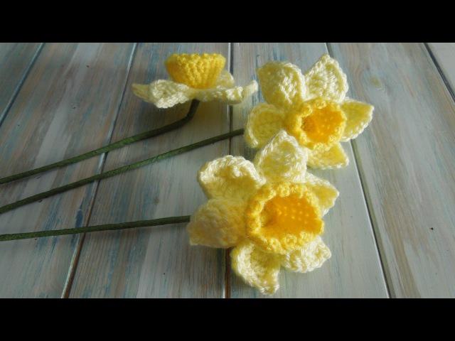 (crochet) How To Crochet a Daffodil - Yarn Scrap Friday
