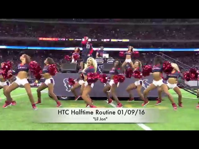 Houston Texans Cheerleaders HalfTime - Lil Jon