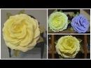Роза из фоамирана без молдов из 30 лепестков Мастер класс Foam rose