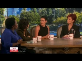 Lea Michele on The Talk (Sep 23rd, 2015)