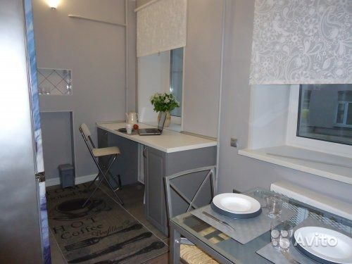 Интерьер квартиры-студии 35,5 м в Москве.