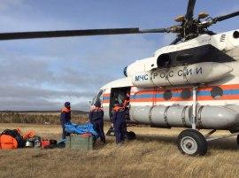 В Олекминский район вылетел вертолет с группой якутских спасателей для поиска пропавших рыбаков