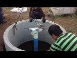 Копка и монтаж кессона для скважины из жби колец в деревне Богослово