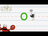 Write the letter O Alphabet Writing lesson for children The Singing Walrus