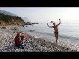 Отдых в горах Крыма. Открытие купального сезона в феврале на мысе Айя