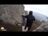 Ильяс-кая Роупджампинг в Крыму с командой Скайлайн