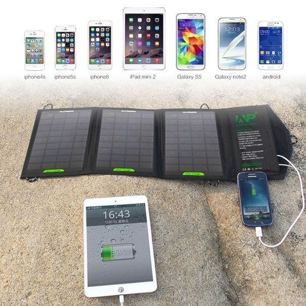 зарядка usb солнечная батарея