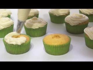 Лимонные Капкейки с Лимонным Курдом и Сырно - Сливочным Кремом ♥ Рецепты NK cooking