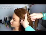 Прическа с плетением 4- прядных кос на средние волосы