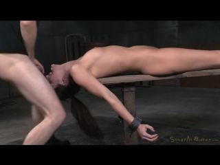 SexuallyBroken.com_ Bondage beauty Bianca Breeze shackled down and throatboarded, epic brutal deepthroat! (2015) HD