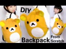 DIY Easy Backpack from Scratch DIY Rilakkuma Backpack Back to School DIY