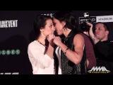 UFC 193: Joanna Jedrzejczyk vs. Valerie Letourneau Staredown