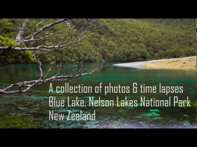 Голубое озеро в Новой Зеландии Blue Lake Rotomairewhenua