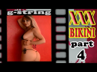 XXX Bikini 18+ part #4 Tiny Beach Bikinis Black Microkini g-string  HD music