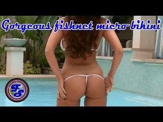 FaNSpeed World Erotica part #6 Gorgeous fishnet micro bikini HD music
