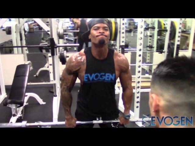 IFBB Pros Jeremy Buendia and Tory Woodward FST7 Shoulder Training
