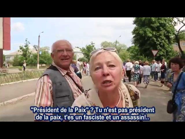 Gorlovka 28/05/15 Dites à Porochenko que c'est un fumier!..