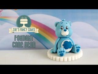 (vk.com/LakomkaVK) Care Bears: How to make a fondant Care Bear model cake topper blue grumpy Care Bear