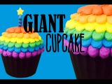 (vk.comLakomkaVK) Giant Cupcake Masterclass! With Rainbow Frosting My Cupcake Addiction