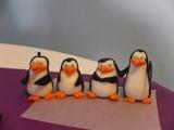 How to make fondant Madagascar Penguins figures / Jak zrobić Pingwiny z Madagaskaru z masy cukrowej