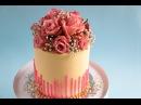 Perfect straight edges Fresh Flower Bouquet Cake Tutorial Rosie's Dessert Spot