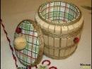 Как сделать бочонок из прищепок/ Barrel of clothespins