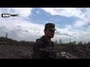 Место взрыва неизвестного снаряда ВСУ. Говорит и показывает батальон «Восток»