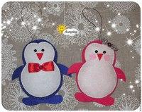 Елочные игрушки своими руками пингвины