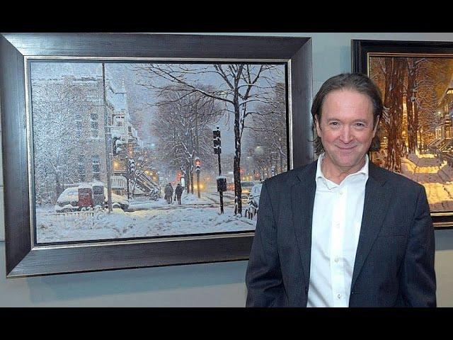Winter Landscape Painting - Richard Savoie