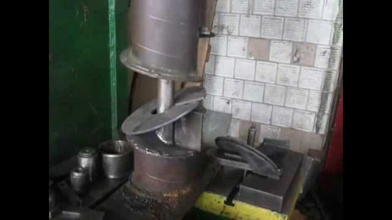 изготовление витка шнека шнек своими руками гибка витка