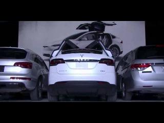 Tesla Model X Falcon Wing Doors demo