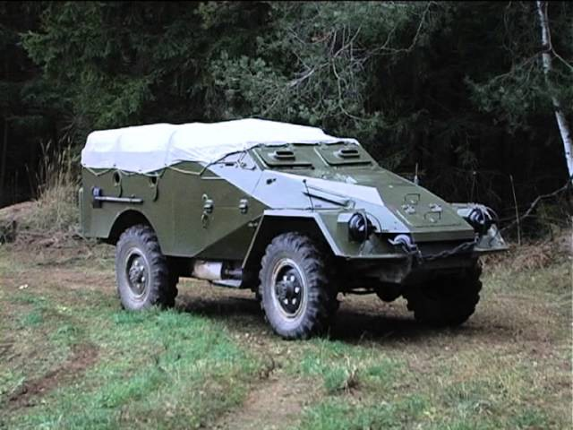 Тест-драйв БТР-40.