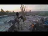 Чеченский батальон ведет бой с терористами Донбасса 2015